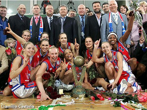 Winner of the EuroLeague Women 2005: VBM-SGAU Samara